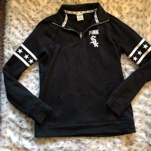 half off 1c18b 9701a VS PINK Chicago White Sox quarter zip pullover